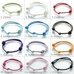 kolorowe sznurki na bransoletkę