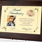 dyplom z personalizację na 18 urodziny