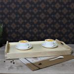drewniany stolik z rozkładanymi nóżkami