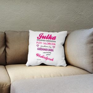 personalizowana poduszka na walentynki