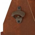 drewniana skrzynka z otwieraczem dla niego