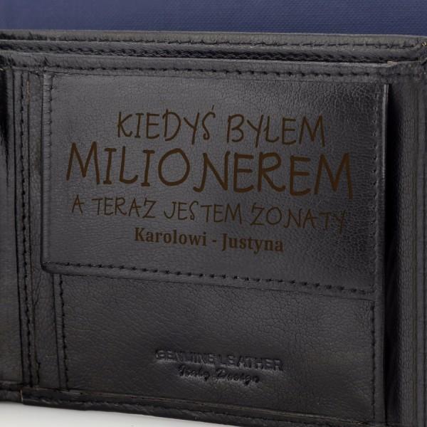 4d7314d1a5d8c Prezent dla niego elegancki zestaw skórzany pasek i portfel z ...