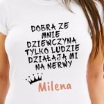 personalizowana koszulka na prezent na mikołajki dla dziewczyny